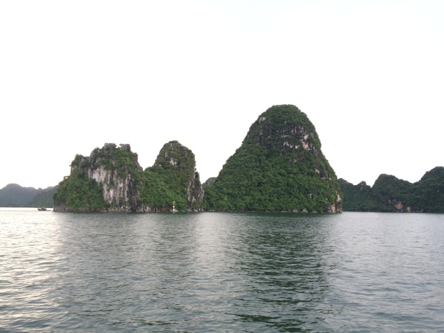 Up close in Ha Long Bay